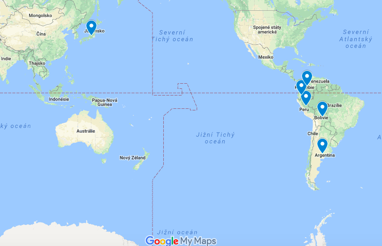 mapa yacon