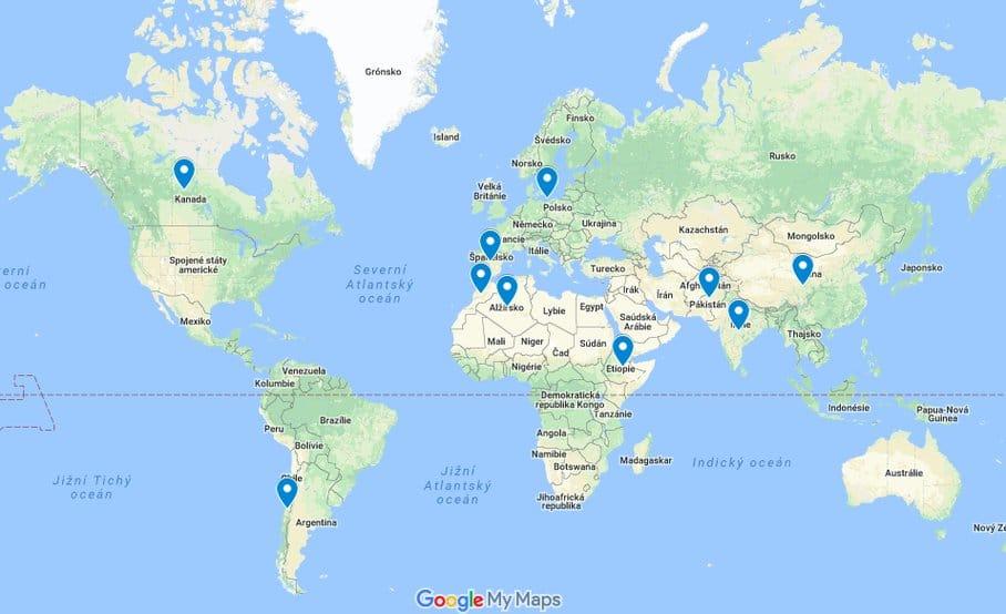 mapa čočka