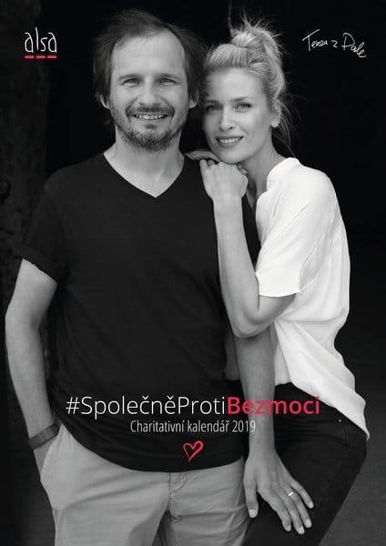 Vláďa s modelkou Danielou Pešotovou